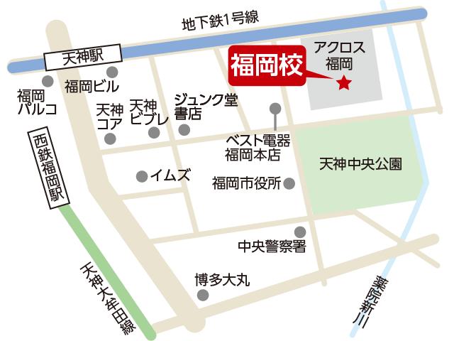 東京アカデミー福岡校のマップ画像