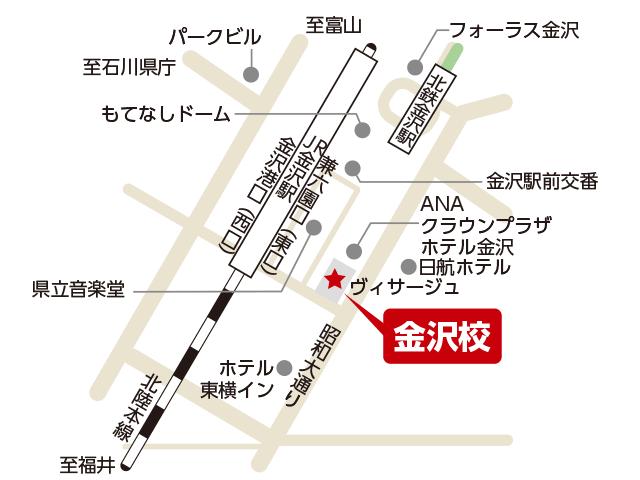 東京アカデミー金沢校のマップ画像