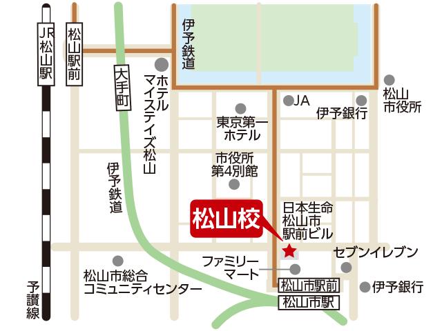 東京アカデミー松山校のマップ画像