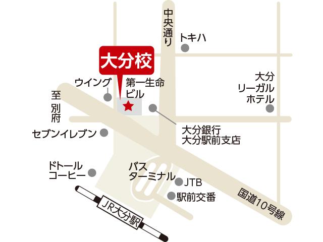 東京アカデミー大分校のマップ画像