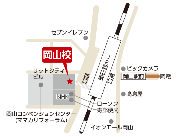 東京アカデミー岡山校のマップ画像