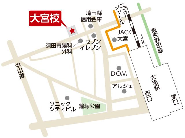 東京アカデミー大宮校のマップ画像