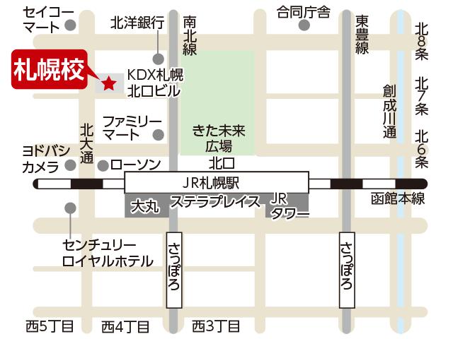 東京アカデミー札幌校のマップ画像