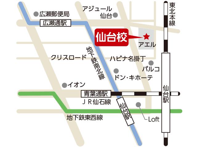 東京アカデミー仙台校のマップ画像