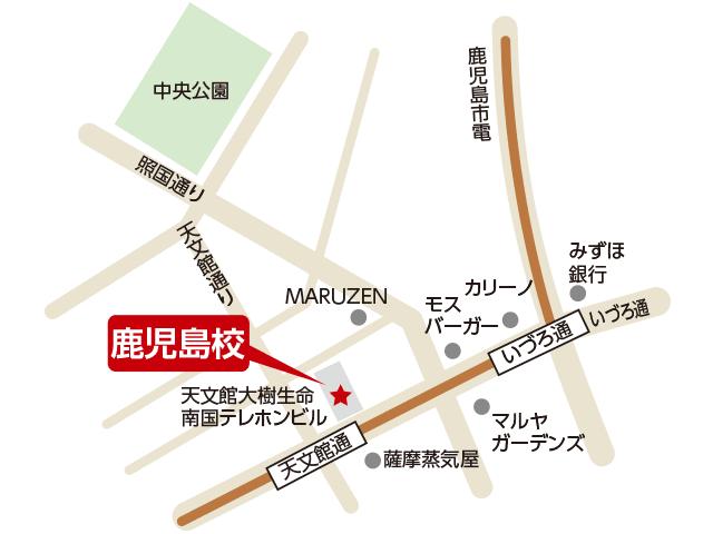 東京アカデミー鹿児島校のマップ画像