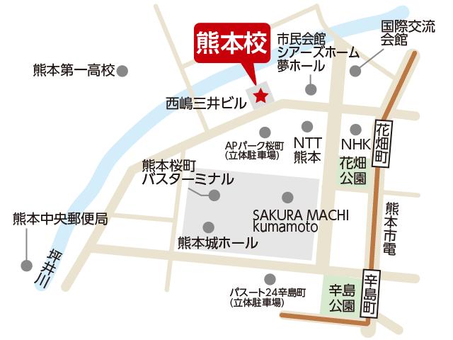 東京アカデミー熊本校のマップ画像