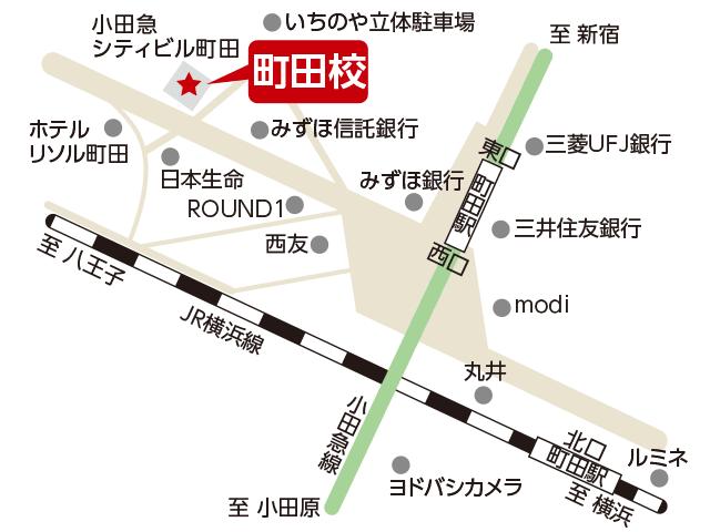 東京アカデミー町田校のマップ画像