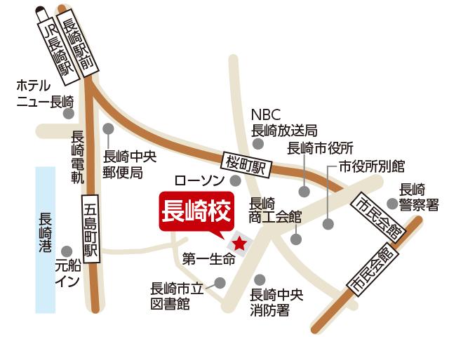 東京アカデミー長崎校のマップ画像