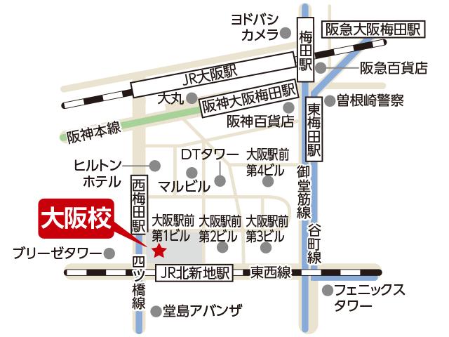 東京アカデミー大阪校のマップ画像