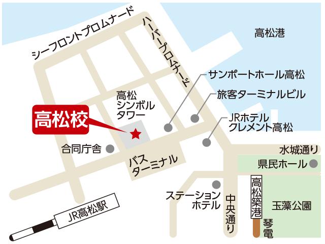 東京アカデミー高松校のマップ画像