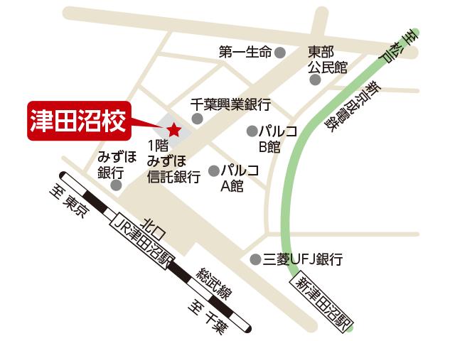 東京アカデミー津田沼校のマップ画像