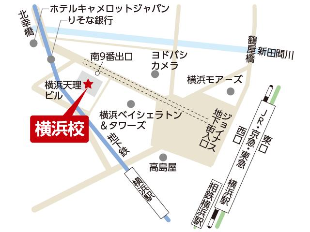 東京アカデミー横浜校のマップ画像
