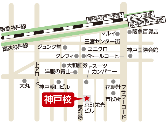 東京アカデミー神戸校のマップ画像