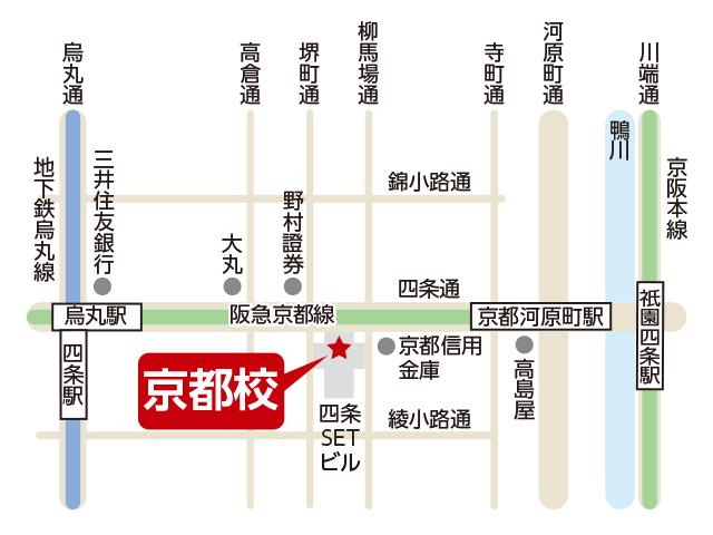 東京アカデミー京都校のマップ画像