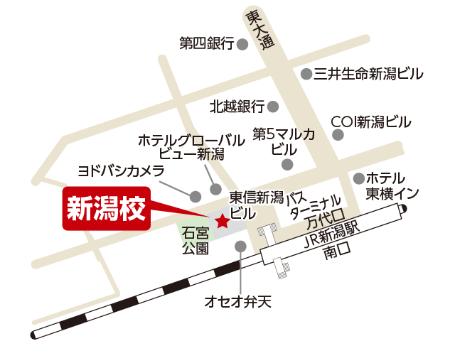東京アカデミー新潟校のマップ画像