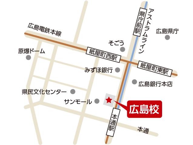 東京アカデミー広島校のマップ画像